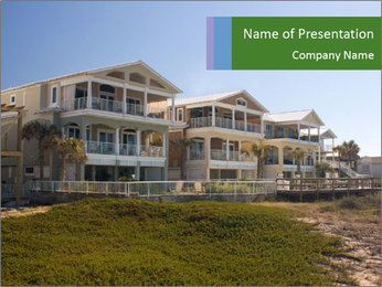 Luxurious Cottages at Beachfront PowerPoint Template