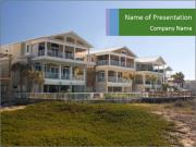 Luxurious Cottages at Beachfront PowerPoint Templates