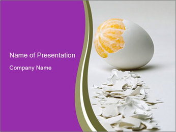 Orange in Egg Shell PowerPoint Template