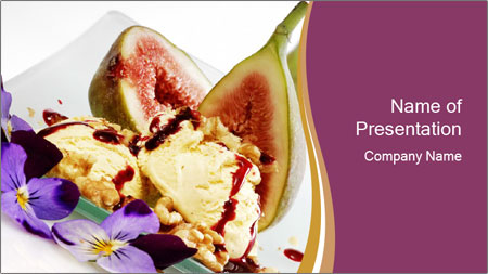 fresh figs served with ice cream powerpoint template backgrounds