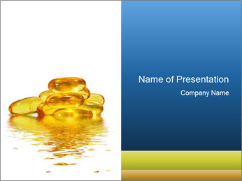 Fish Oil Capsule as Omega 3 Suppliment PowerPoint Template