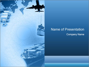 Types of Logistics PowerPoint Template