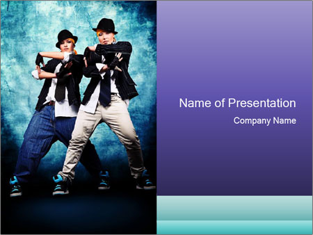 Two street performers powerpoint template backgrounds id two street performers powerpoint template toneelgroepblik Image collections