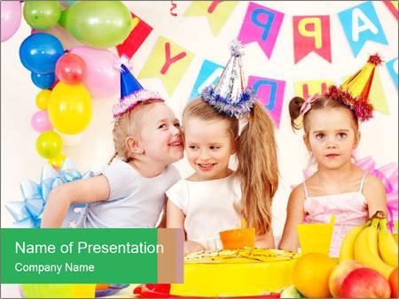 Birthday party in kindergarten powerpoint template backgrounds birthday party in kindergarten powerpoint template toneelgroepblik Image collections