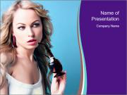 Attractive Lady with Glasses PowerPoint Templates