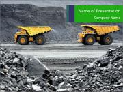 Driving Dump Trucks Sjablonen PowerPoint presentaties