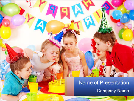 Bright Birthday Party Powerpoint Template Backgrounds Google