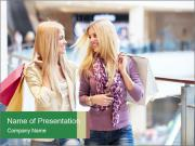 Two Friends in the Mall PowerPoint Templates