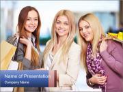 Three Shopaholics PowerPoint Templates