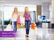 Two Shopaholics PowerPoint Templates