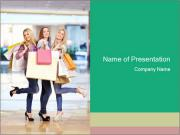Shopping with Friends is Fun PowerPoint Templates