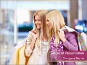 Girls Love Shopping PowerPoint Templates