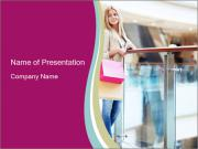 Customer in the Shopping Mall PowerPoint Templates