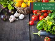 Vegetables on Dark Wooden Table Modèles des présentations  PowerPoint