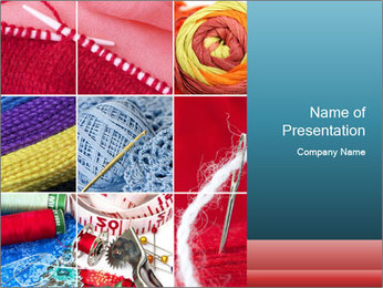 Knitting Collage PowerPoint Template