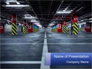 Dark Undeground Garage PowerPoint Templates