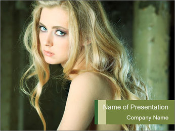 Lovely Blond Lady PowerPoint Template