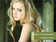 Lovely Blond Lady PowerPoint Templates