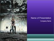 Lonely Lady Sitting on the Chair PowerPoint Templates