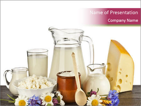 Dairy products on the table powerpoint template backgrounds id dairy products on the table powerpoint templates toneelgroepblik Images