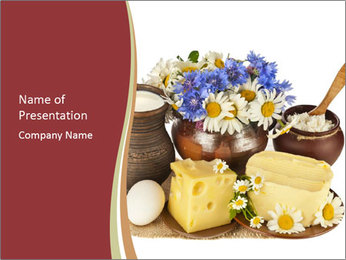 Organic Dairy Products PowerPoint Template