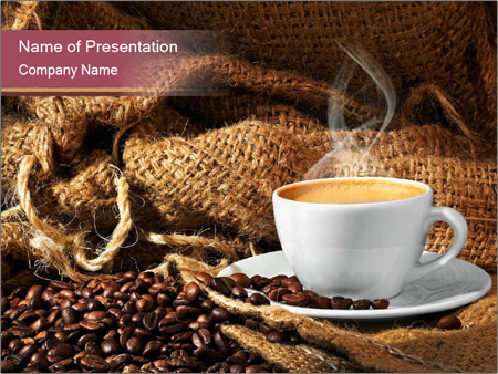 small cup of coffee powerpoint template, backgrounds & google slides, Coffee Presentation Template, Presentation templates
