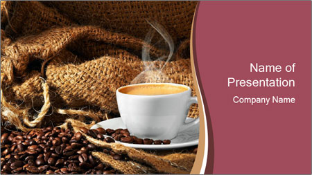 small cup of coffee powerpoint template backgrounds google slides