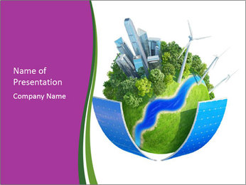 Save Our Planet with Solar Panels PowerPoint Template