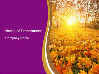 Forest in Golden Season PowerPoint Template