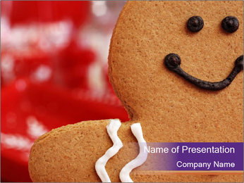 Cute Gingerbread PowerPoint Template