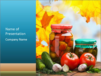 Season for Makeing Pickled Vegetables PowerPoint Template