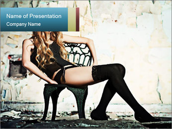 Sexy and Lonely Lady PowerPoint Template
