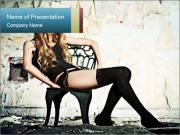 Sexy and Lonely Lady PowerPoint Templates