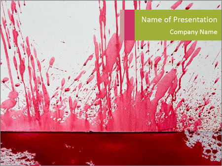 Scary Blood Powerpoint Template Backgrounds Google Slides Id