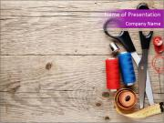 Simple Sewing Accessories PowerPoint Templates