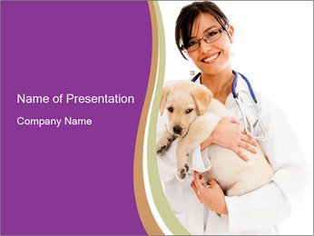 Vet Doctoc with Puppy PowerPoint Template