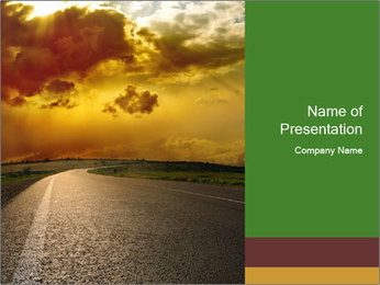 Sunset Landscape PowerPoint Template