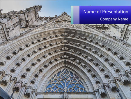 Cathedral in spain powerpoint template backgrounds id 0000019969 cathedral in spain powerpoint template toneelgroepblik Choice Image