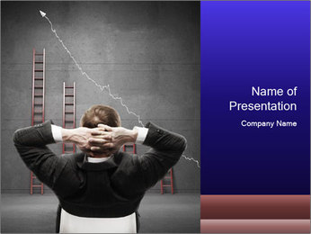 Man is Satisfied with Business Growth PowerPoint Template