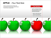 Apples PPT Diagrams & Chart