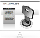 Keys and Padlocks PPT Diagrams & Chart