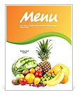 Fruits Menu Template