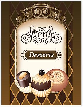 desserts menu template design id 0000002024. Black Bedroom Furniture Sets. Home Design Ideas
