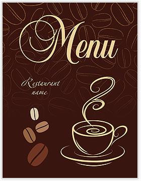 Cup of Coffee Menu Template & Design ID 0000002034 ...