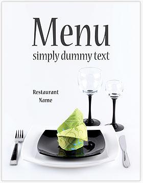 dining table menu template design id 0000002041. Black Bedroom Furniture Sets. Home Design Ideas