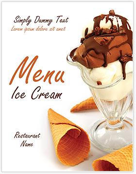 Ice Cream Menu Template Amp Design Id 0000002043