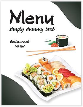 Sushi menu template design id 0000002046 smiletemplates sushi menu templates pronofoot35fo Gallery