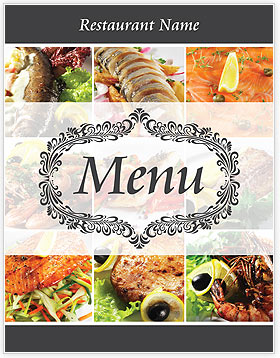 menu publisher template