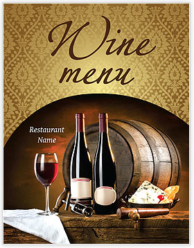 Wine Bottle Menu Template