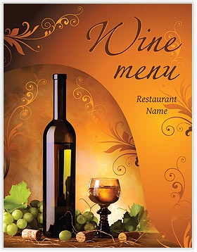 Wine Menu Template & Design ID 0000002050 - SmileTemplates.com